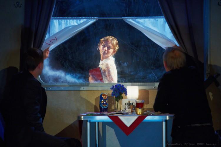 Сцена из спектакля «Крейцерова соната», театр «Глобус»