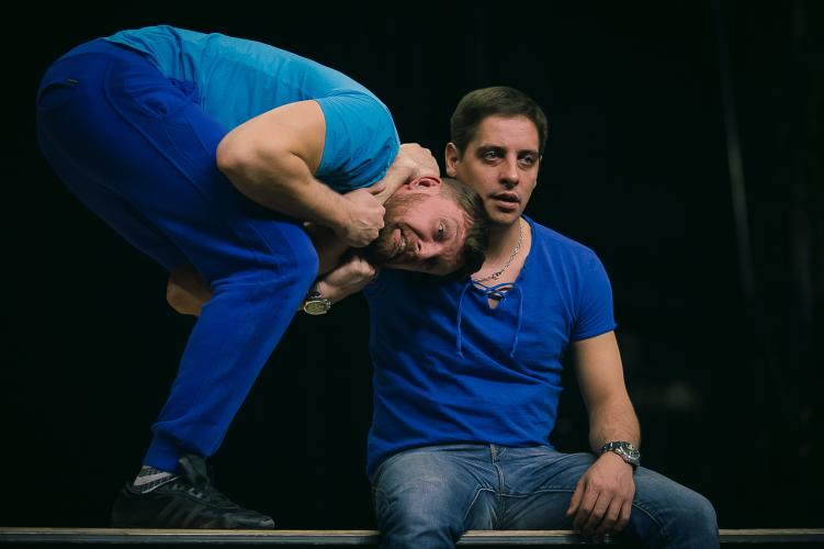 Репетиция спектакля «Декамерон», театр «Красный факел»
