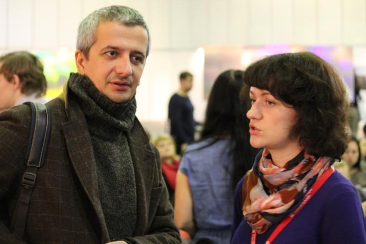 Режиссер Константин Богомолов и театральный критик Оксана Ефременко
