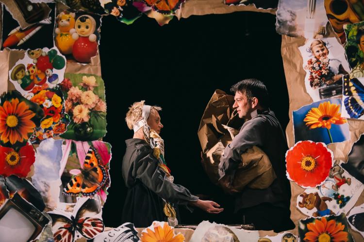 Создатели спектакля: Галина Пьянова, Антон Болкунов, Сергей Мельцер. Фото: Фрол Подлесный.